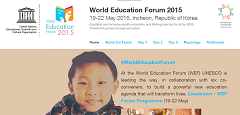 ANHRE Participate In The World Education Forum 2015 In INCEHON, Republic Of Korea